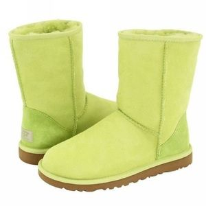 Uggs Limited Edition Lime Green Short Boots